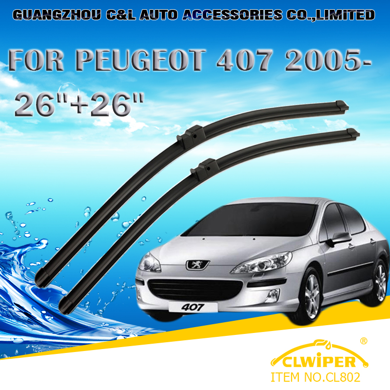 "For PEUGEOT 407 (2005- ),Exclusive Car Windshield Windscreen Wiper Blade 26""+26"" Fast shipping Cars styling accessories(China (Mainland))"