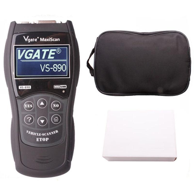 top quality Vgate VS890 OBD2 Car Scanner Scantool OBDII Code Reader Tester Diagnostic Tools 3 inch LCD Car Detector(China (Mainland))