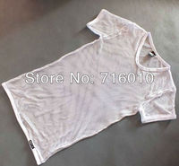 Сексуальное белье 1 комплект = 2шт мужчины белье чисто Ажурные шорты трусы + t рубашки с коротким рукавом