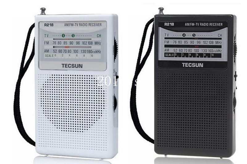 TECSUN R-218 R218 Radio Receiver FM / AM / TV. Mini Pocket portable size Economic battery consume and reliable Built In Speaker(China (Mainland))