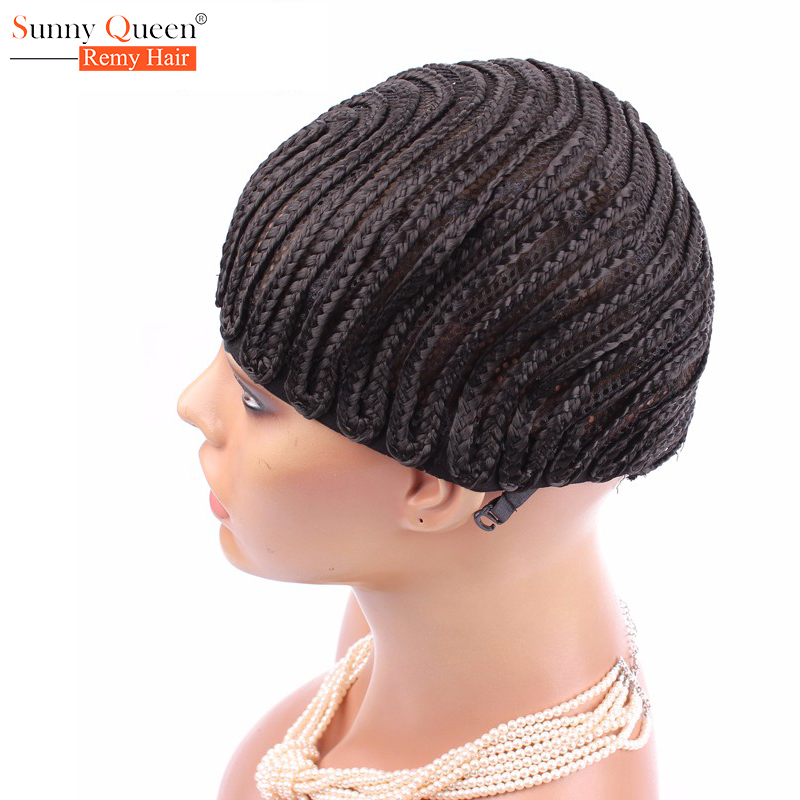 Cornrow Wig Cap With Braids Easier Sew Ins 1Pc Only Less Stress On Your Natural Hair High Quality Wig Caps For Making WIgs<br><br>Aliexpress