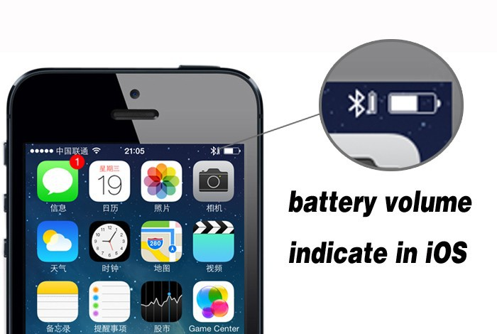 battery volume indicate in iOS(1)