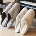 New Japanese Style Men Women House Indoor Floor Slippers Winter Warm Indoor Home Cotton Slipper Slippers