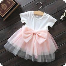 New 2016 Spring Baby Girl Cotton Dresses Sleeveless Beautiful Flower Baby Kids Clothing Free Shipping(China (Mainland))