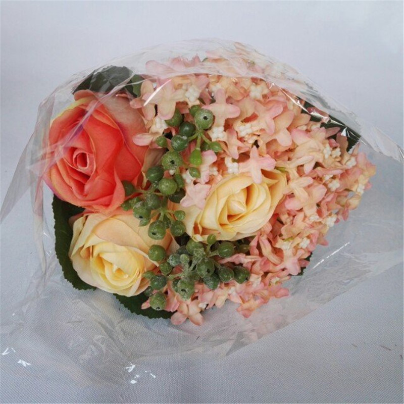 2016 new Rose Hydrangea artificial flowers party and wedding decoration home room Artificial plant decoration decor(China (Mainland))