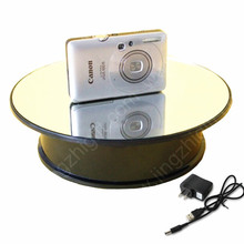 200mm Mirror Glass Turning Top Display Stand Rotary Display Turntable for jewelry &mobile phone display(China (Mainland))