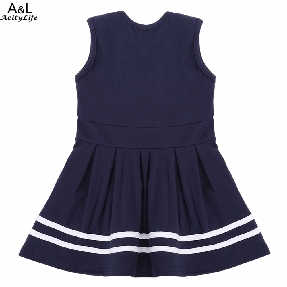 Korean Cute Baby Girl Dress O-Neck Sleeveless Tank Pleated Girls Clothes Fashion Sundress Children Clothing for Babygirl Dresses(China (Mainland))