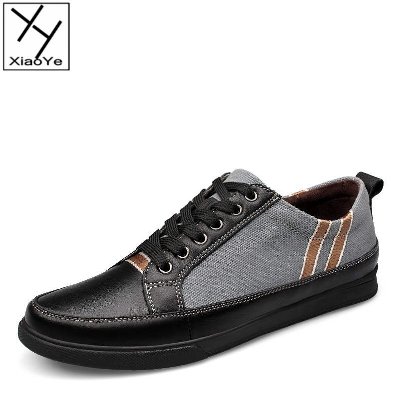 Mens Casual Canvas Shoes Korean Style Superb Technology Stitching Flats For Leisure Time EU Size 37-46