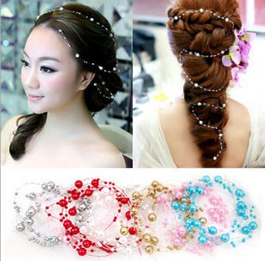 Big Sale fashion wedding bridal hair headwear shell pearl jewelry prom party accessory 7 colour for women/girl(China (Mainland))