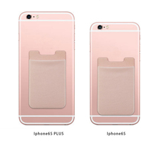 Silicone Id Card Credit Card Holder Sticker for Iphone 6s plus 5s 4 4s for Samsung S5 S6 Edge Plus S7 Edge