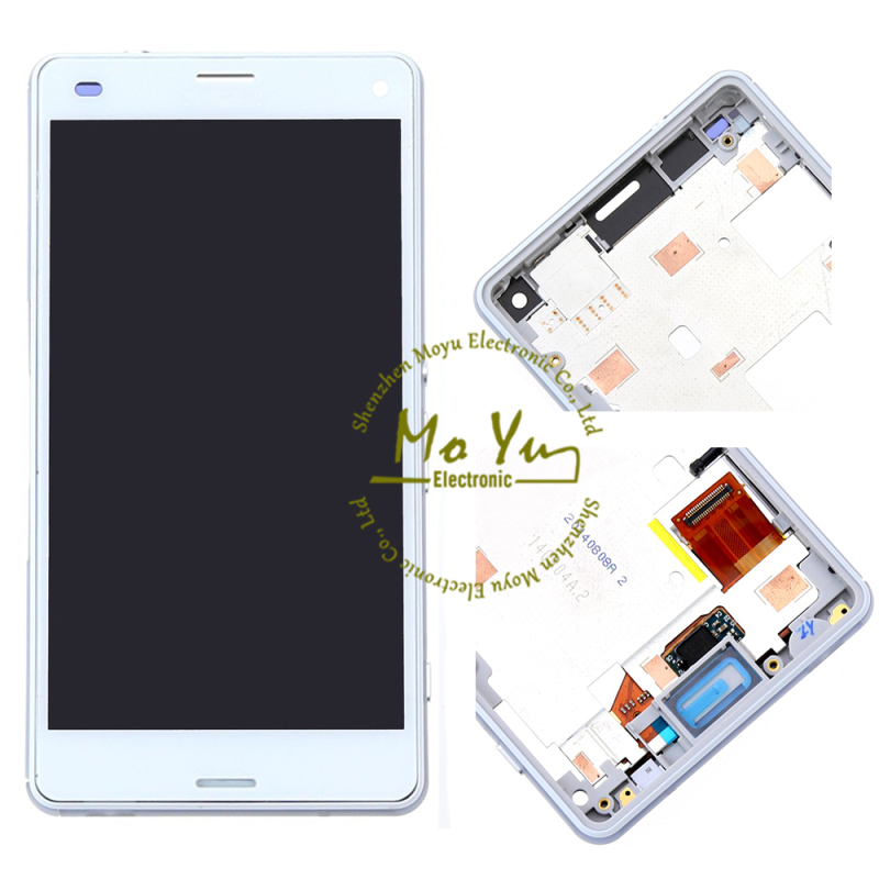 Repaire parts for Sony Xperia Z3 Compact LCD screen with frame for Sony Xperia Z3 Compact LCD Display Assembly replacement(China (Mainland))