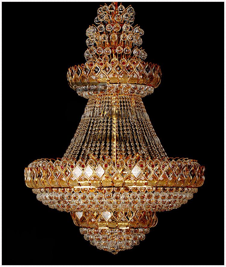 big gold crystal chandelier pendant light lighting lamp at cheap price