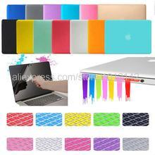 """4in1 Matte dur cristal brillant Case Cover + Keyboard Skin + Protection d'écran + prise de poussière pour 11 """" 13 """" 15 """" Macbook Air Pro Retina"""