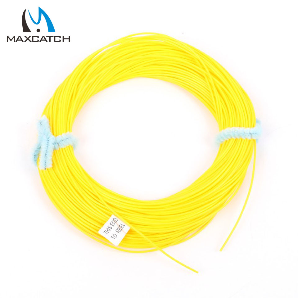 Maxcatch 0.7mm 0.9mm Running Fly Line Orange Or Yellow Fly Fishing Line(China (Mainland))