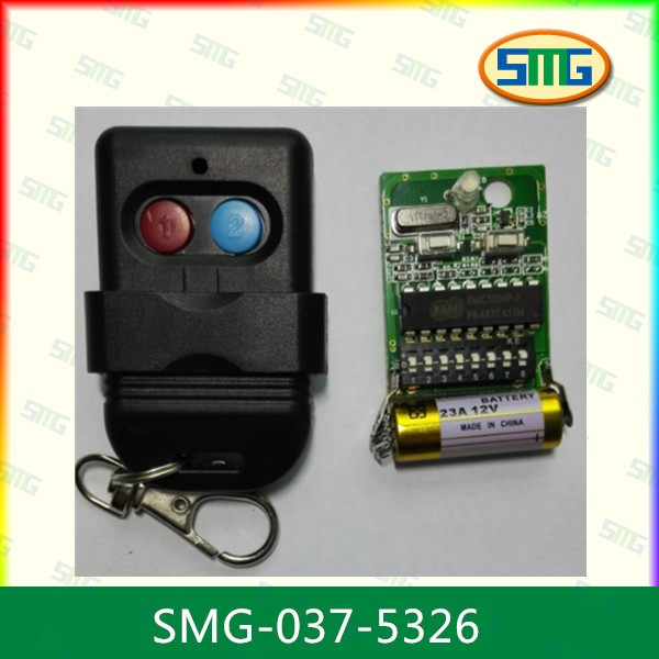 330mhz fix code ic smc5326p-3 rf remote control for gate garage door(China (Mainland))