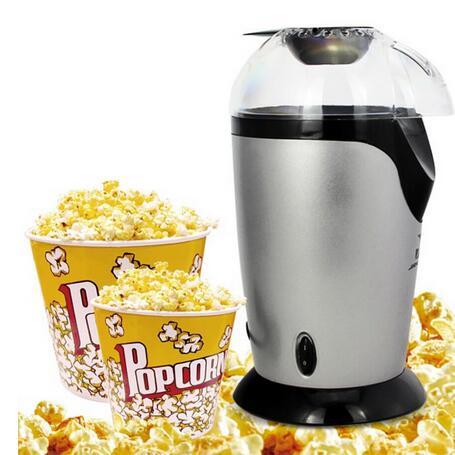 High Quality Mini Popcorn Maker Machine White Hot Air Electric Fat Oil Free Pop Corn Popper Party(China (Mainland))