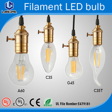 A60 G45 P45 C35 C35T E26 E26 E14 E12 LED filament bulb LED filament candle light antique classic edison bulb(China (Mainland))