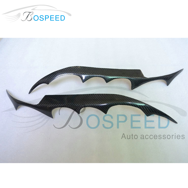 2pcs 100% Real Carbon Fiber Head Light Eyebrow Eyelids Overlays Trim Cover for Mazda 6 2007-2011(China (Mainland))