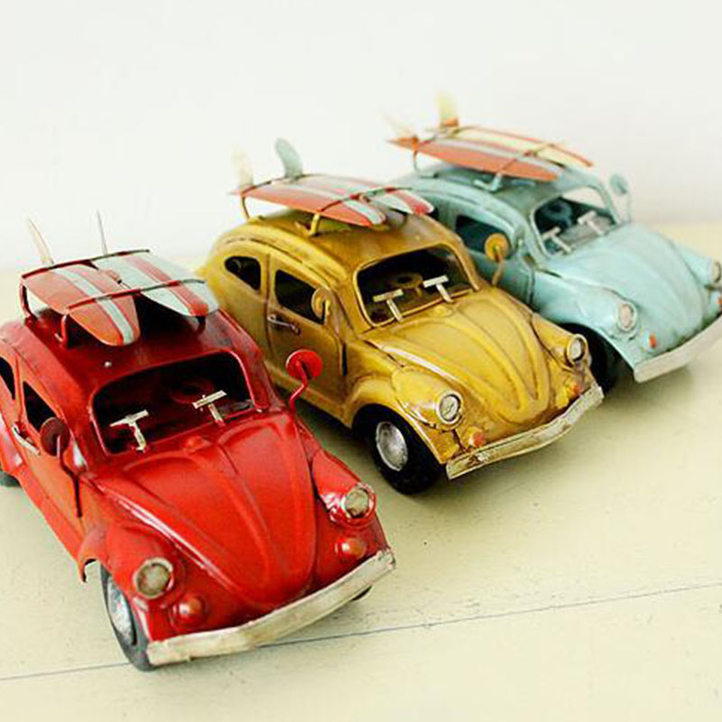 HandworkIron furnishing articles car model / retro the Beetle Cars Arts & Crafts Home Decorations(China (Mainland))