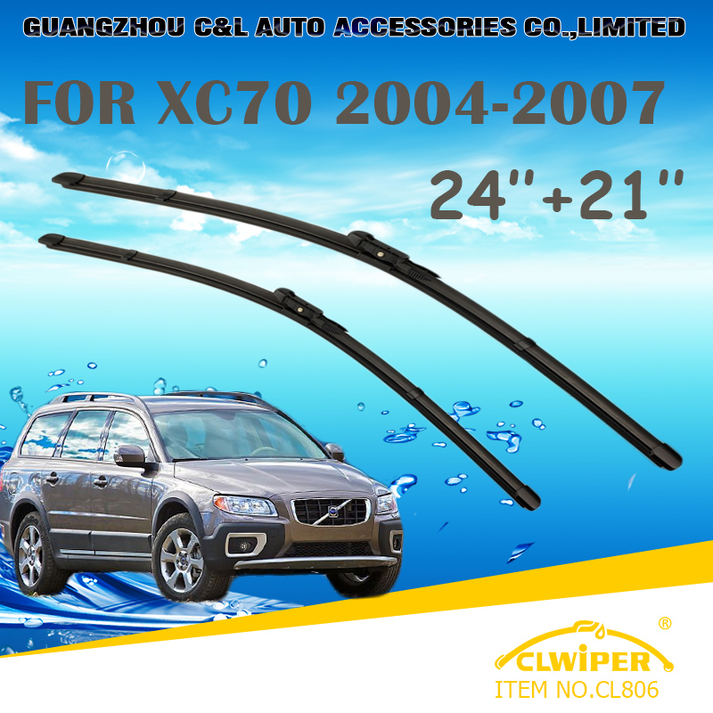 """For VOLVO XC70 (2004-2007), Exclusive Car Windshield Windscreen Wiper Blade 24""""+21"""" Fast shipping cars styling accessories(China (Mainland))"""