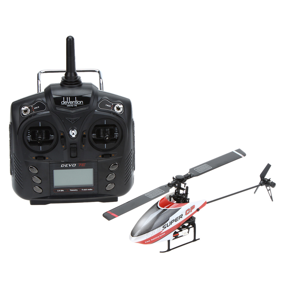 Original Walkera Super CP 2.4G 6CH 3D 3-Axis Flybarless Helicoptero with DEVO-7/7E Transmitter RC Mini Helicopter(China (Mainland))