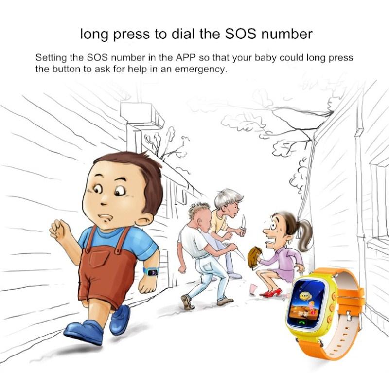 ถูก ทั่วไปเด็ก/เด็กsmart watchเวลาจริงสถานที่ตั้งอิเล็กทรอนิกส์นาฬิกาข้อมือการสนทนา/sos/ฟังก์ชั่นปลุกเด็กของขวัญ