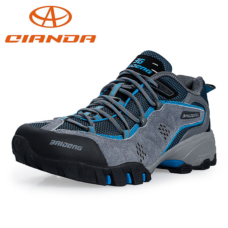 Фотография Hot Sale Waterproof Size 40-45 Breathable Outdoor Men Hiking Shoes