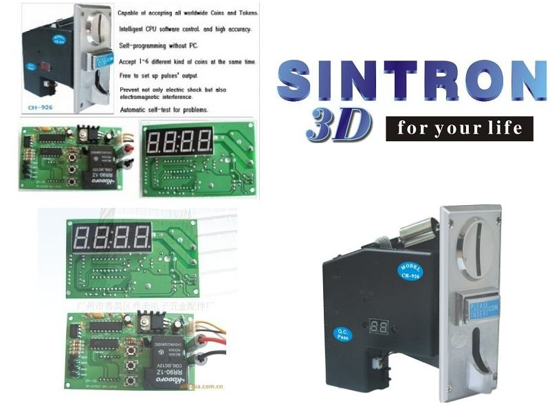 Multi Coin acceptor Selector mech CH-924 & time control timer board