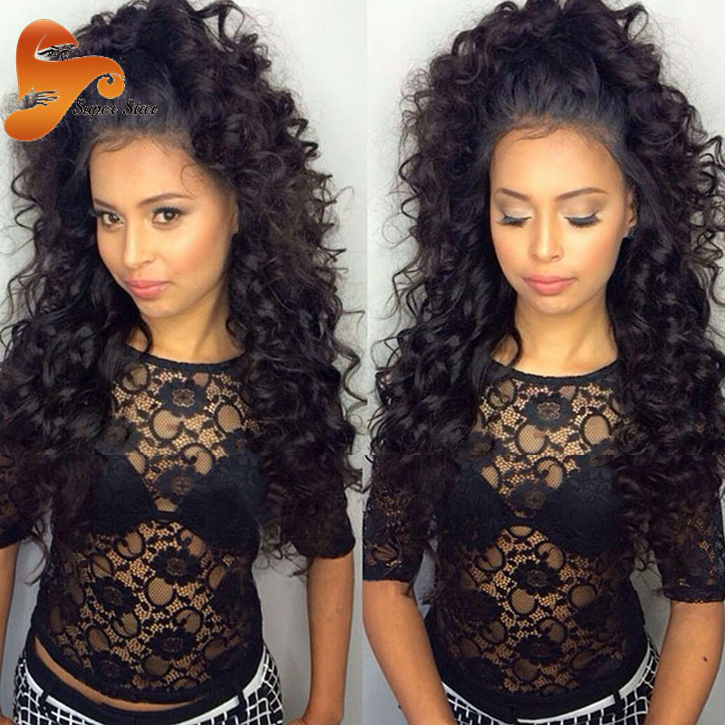 Brazilian Curly Full Lace Human Hair Wigs,Lace Front Virgin Human Hair Curly Wigs Brazilian Curly Lace Wig For African Americans<br><br>Aliexpress