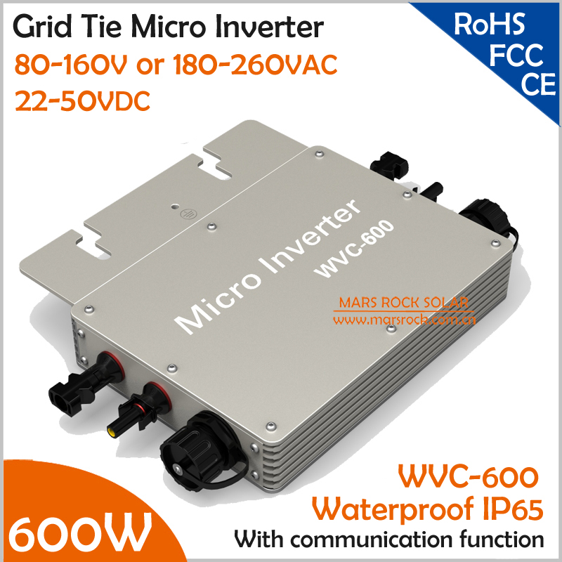 Wateproof 600W Grid Tie Micro Inverter with Communication Function Matched 2 Meter AC Connection Cable for 30V or 36V PV Panel(China (Mainland))