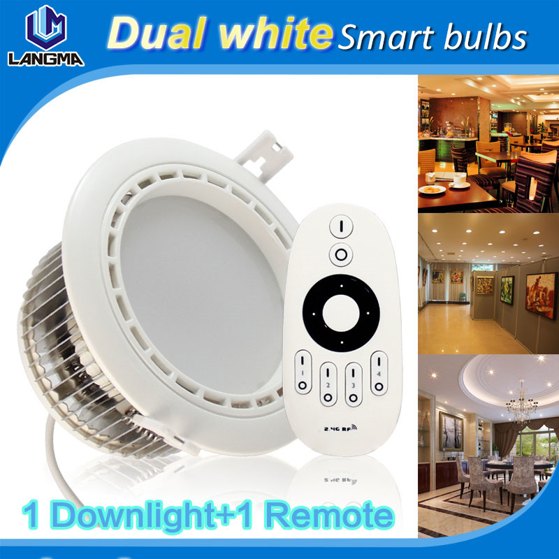6W 2.4Ghz group remote controlled color temperature and brightness dimming LED downlight. Max grouped into 4 teams at random<br><br>Aliexpress