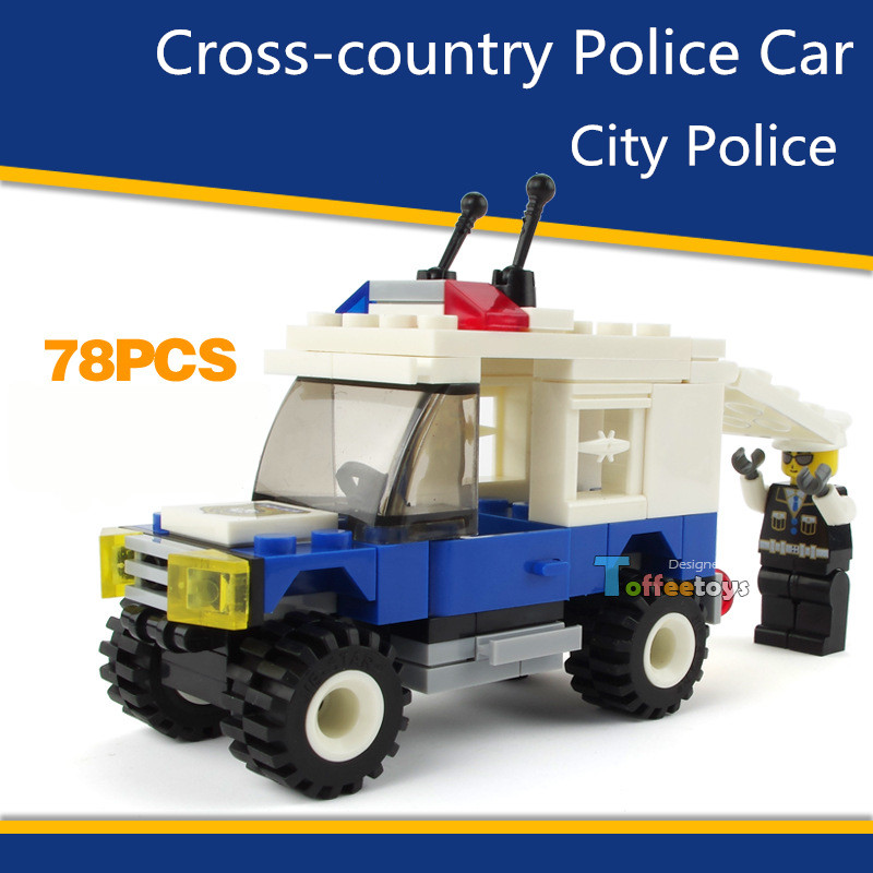 1 PC Cross-country Car Vehicle City Police Series DIY Model Building Blocks Assembly Brick Compatible With Legosize Boys Gifts(China (Mainland))