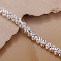H026! 925 Серебряный браслет, 925 серебряные ювелирные изделия инкрустацией желтый камень браслета