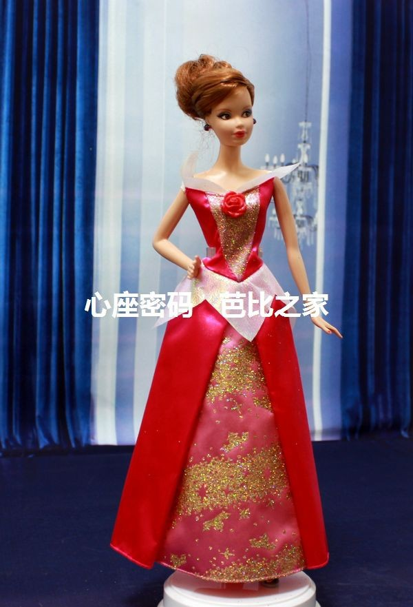 Free Delivery,4pcs/lot Princess Costume Doll Garments for Barbie Doll