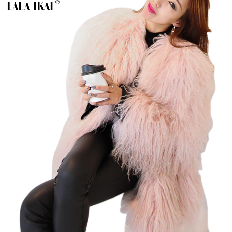 Compare Prices on Lala Ikai Pink Fur Coats- Online Shopping/Buy