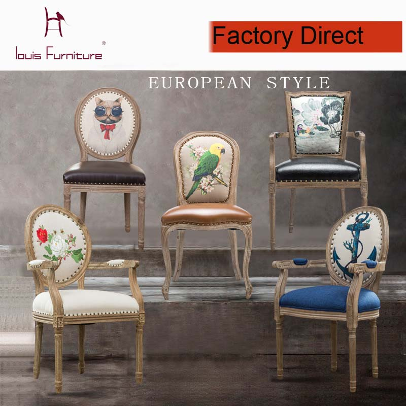 Luxury French Style Exquisite Workmanship Dining Chair
