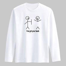 私は背中面白い Tシャツメンズ長袖 Tシャツ男性 2016 でファッションメンズヒップホップ綿 Tシャツ(China)