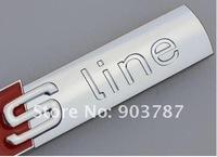 300pcs хром abs матовый sline s line эмблема sline автомобилей 3d высшего класса значок стикер