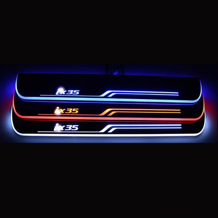 for car for 10-15 Hyundai IX35 Stainless Steel LED scuff plate door outside sill sills Trim Car Accessories Welcome pedal<br><br>Aliexpress