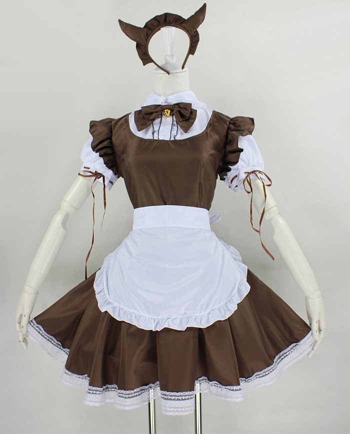 Japanese anime maid outfit Cosplay costume bell the cat little maid dress lolita costume Fancy ...