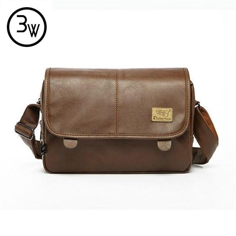 2016 New Designer Handbags Men's Bag PU Leather Messenger Bags Men Travel School Bags Leisure Bags bolsa feminina 1pcs/lot(China (Mainland))