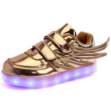 2016 New Spring Kids Light Up Sneakers Chaussure Lumineuse Enfant USB Charging Children Led Shoes Baskets Led Enfants Garcon