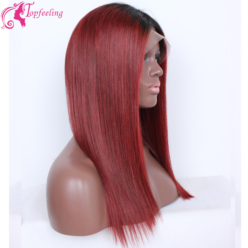 Red Full Lace Wigs Lace Front Wig Brazilian Wigs Human