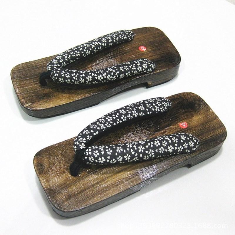 Wholesale-MENu0026#39;s GETA Japanese SAMURAI Clogs Wood Sandals Men Clogs Shoes Wooden Shoes In A ...