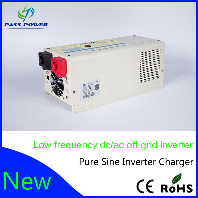 Low frequency pure sine power inverter 24v to 220v 3000W (PS series) hybrid solar low frequncy inverter(China (Mainland))