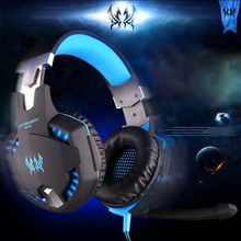 2016 EACH G2100 Gaming Headset Stereo Sound 2.2m Wired Headphone Noise Reduction with Hidden Microphone Vibration for PC Game