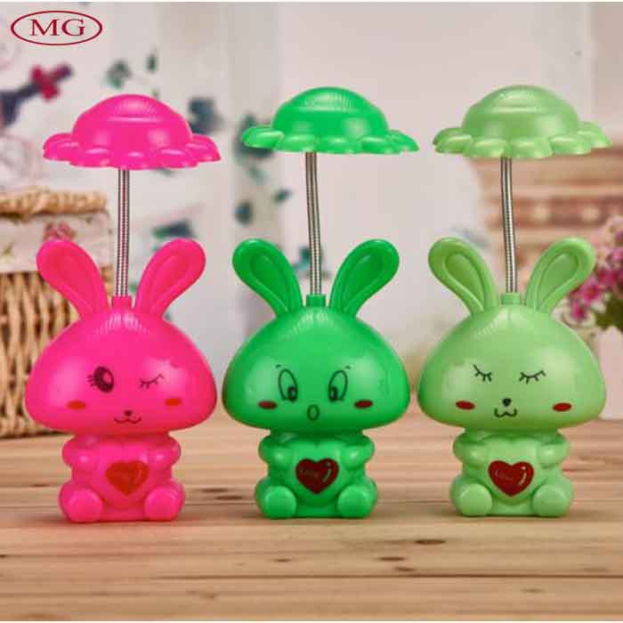 12 LED charging table lamp cute cartoon shy rabbit mini night light best birthday gift for kids(China (Mainland))