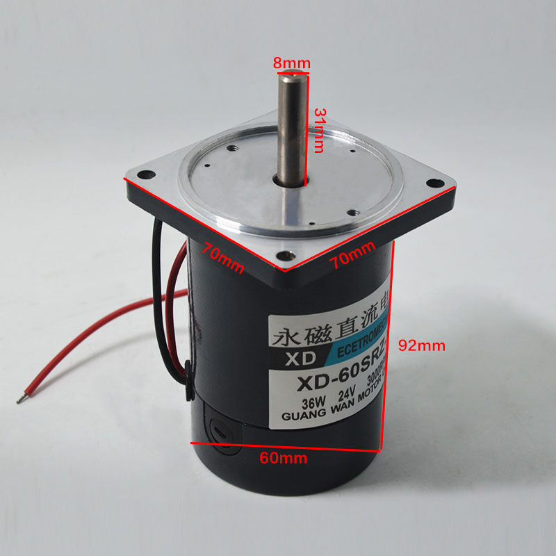 25W DC Permanent Magnet Motor 12V24V High-Speed 4000 Rpm Reversible Variable Speed Miniature Motor<br><br>Aliexpress