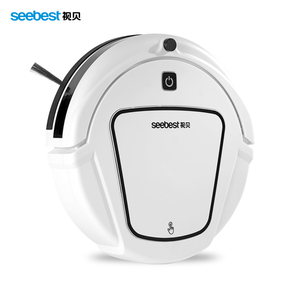 Dry Mopping Robot Vacuum Cleaner with Big Suction Power,2 side brush,Time Schedule Clean Seebest D720 MOMO 1.0,Russia warahouse(China (Mainland))
