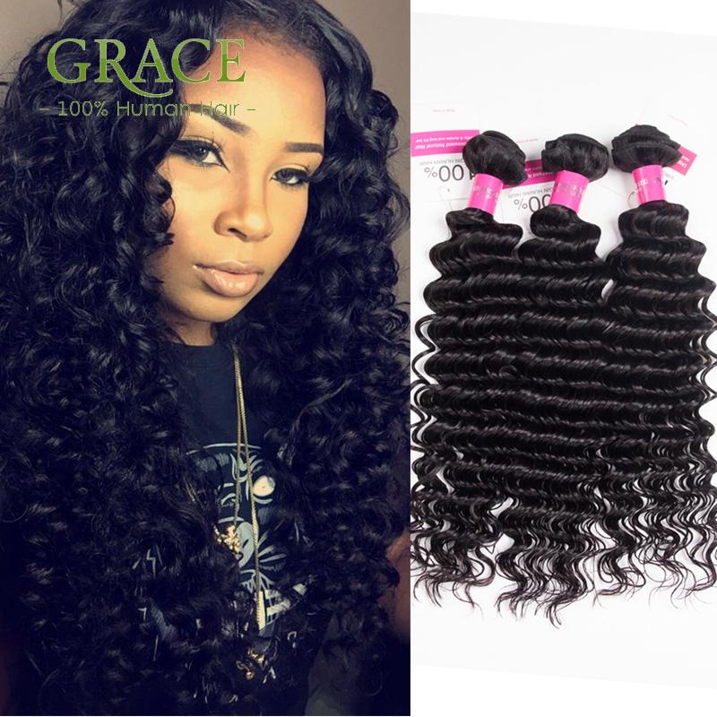 Peruvian Deep Wave 4Bundles Unice Hair Products Virgin Peruvian Deep Curly Hair Unprocessed Peruvian Curly Hair Weaving(China (Mainland))
